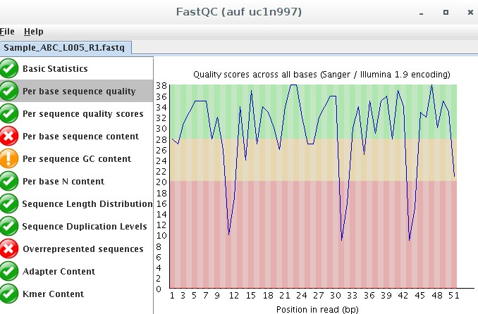 FastQC GUI-Version